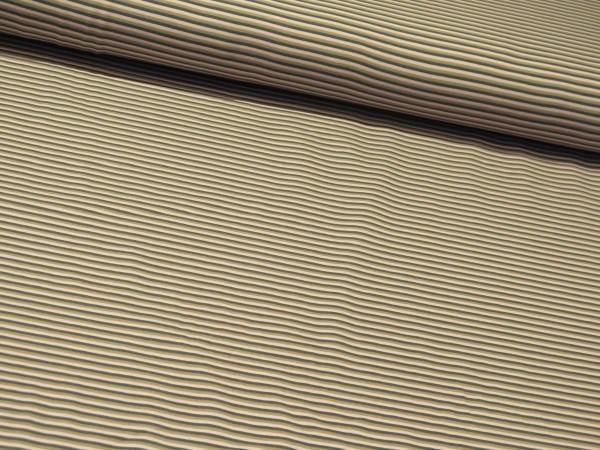 "Baumwolljersey ""Stripes"" grau-rosa-beige"