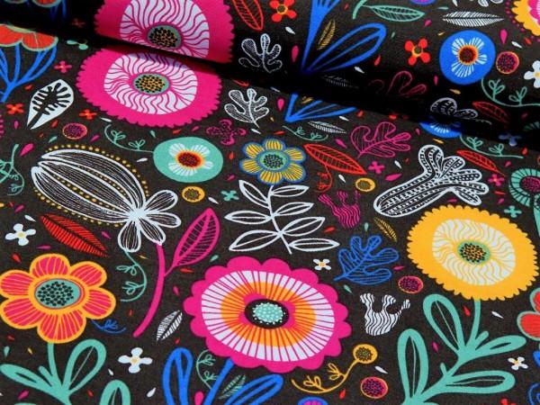 "Canvas ""Flower"" black"