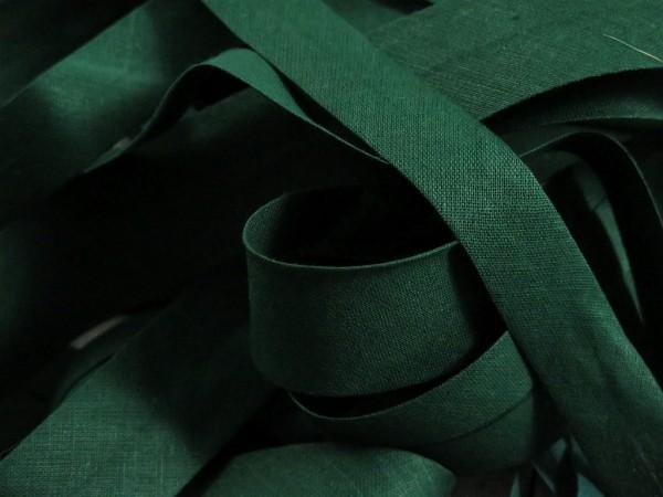 """Baumwoll-Schrägband 20mm """"flaschengrün"""""""