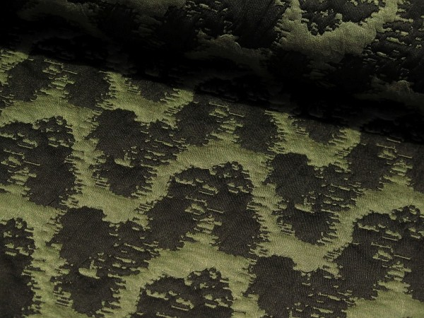 """Jacquard Sweat """"Abstract"""" army green"""