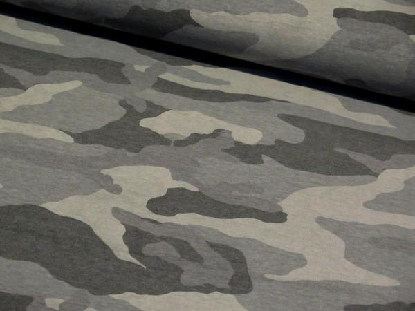 """Kuschelsweat """"Camouflage"""" grau"""