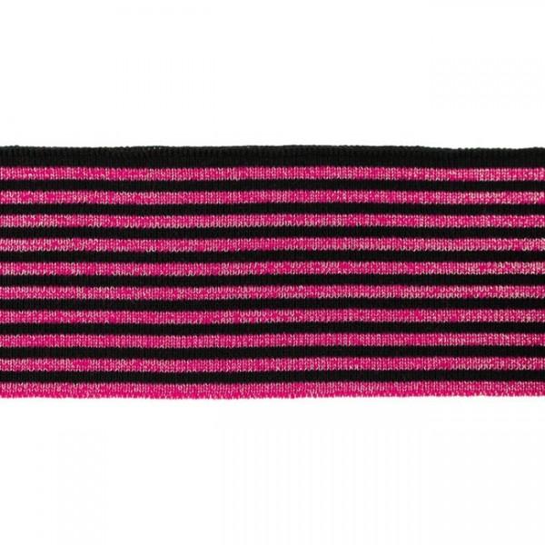 """Cuff Stripes """"Lurex"""" pink/schwarz"""
