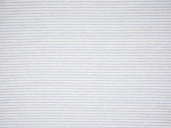 """Baumwolljersey Soft Touch """"Stripes"""" hellblau meliert"""