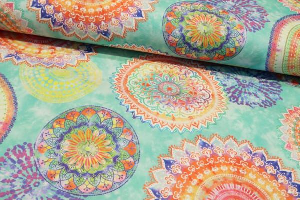 "Teflon wasserabweisend ""Mandala watercolour"" bunt"