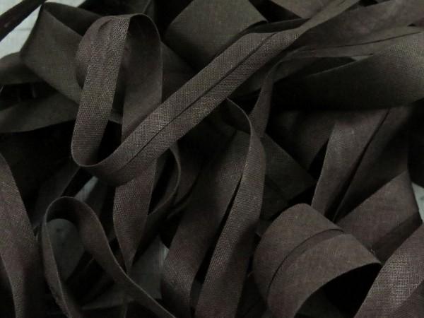 """Baumwoll-Schrägband 20mm """"schwarzbraun"""""""