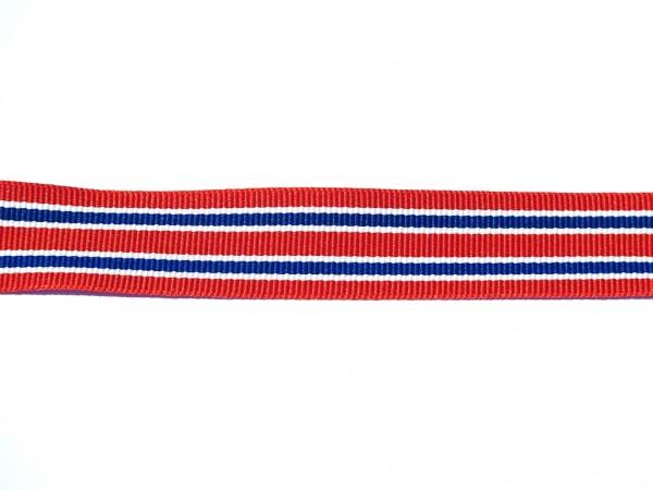 "Ripsband ""Stripes"" rot/blau"