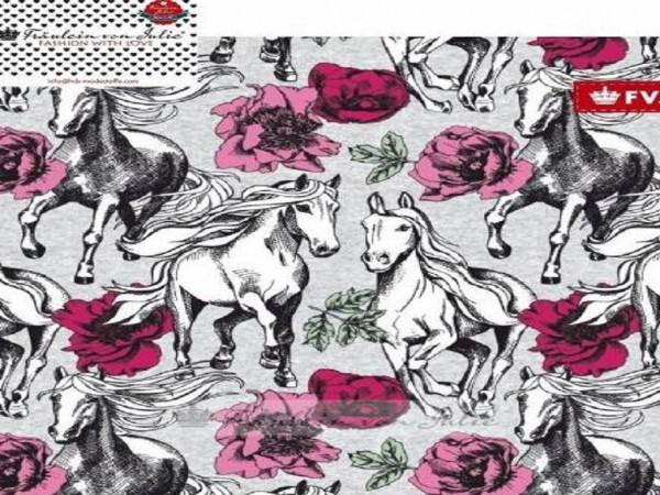 """FVJ Sommersweat """"Horse & Roses"""""""