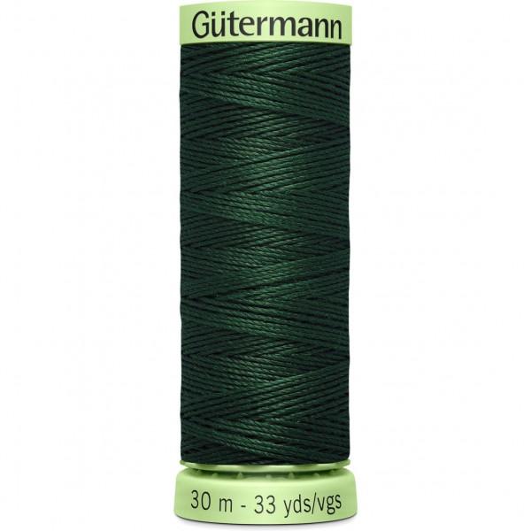 Knopflochgarn - Zierstichfaden - dunkelgrün