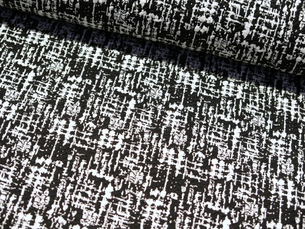 "Jacquard Sweat ""Confused"" black/white"