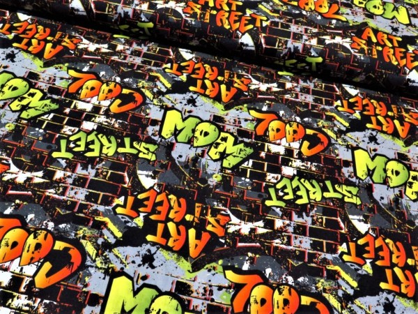 "Baumwollstoff ""Street Art"""