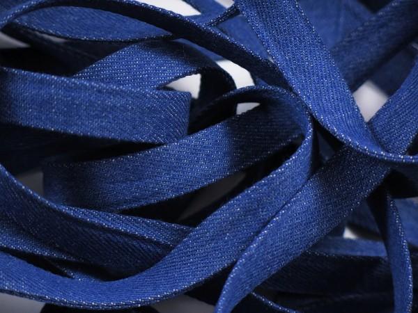 "Jeans Flachkordel 15mm ""blau"""