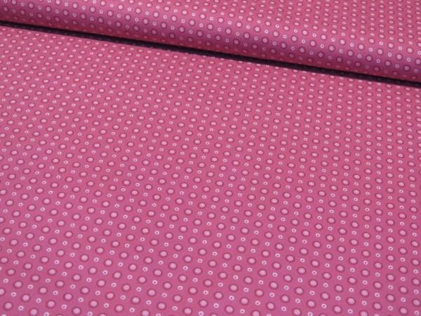 """Baumwollstoff """"Mandala Blümchen"""" pink"""