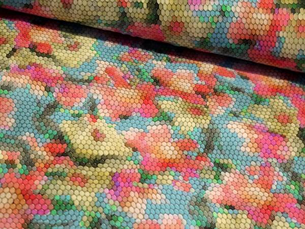 "Baumwolljersey ""Flower Mosaic"""