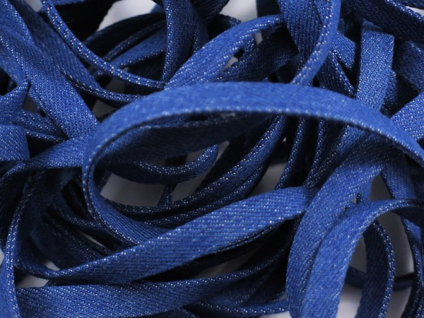 "Jeans Flachkordel 10mm ""blau"""