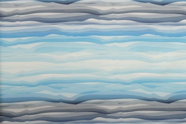 """Baumwolljersey """"Wavy Stripes"""" blau by lycklig design"""