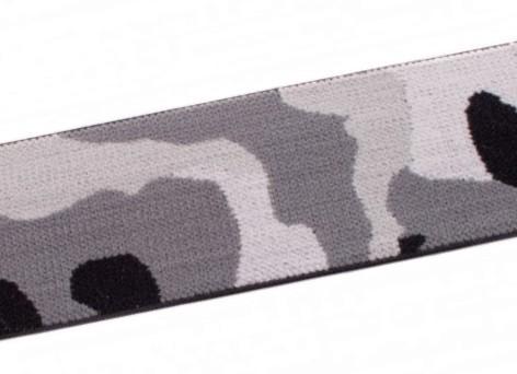 """weicher Gummi 40mm """"Camouflage"""" grau"""