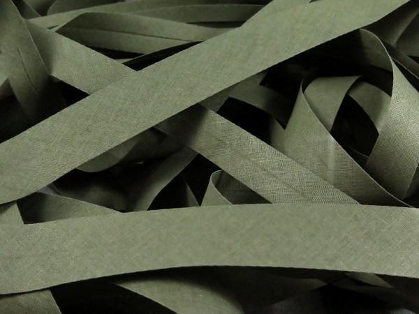 """Baumwoll-Schrägband 20mm """"khaki"""""""
