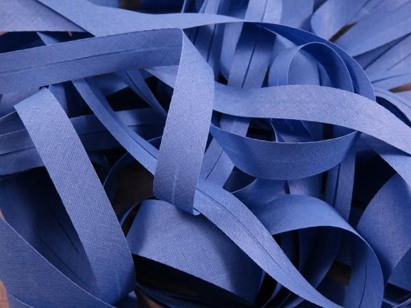 """Baumwoll-Schrägband 20mm """"jeansblau"""""""