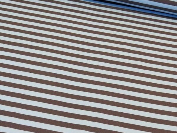 """Baumwolljersey """"Stripes 12mm"""" hellblau-grau"""