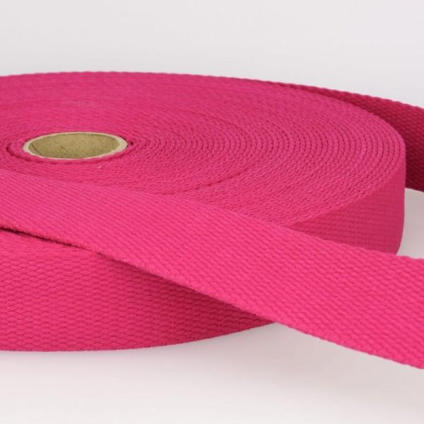 "Baumwollgurtband ""pink"" 25mm"