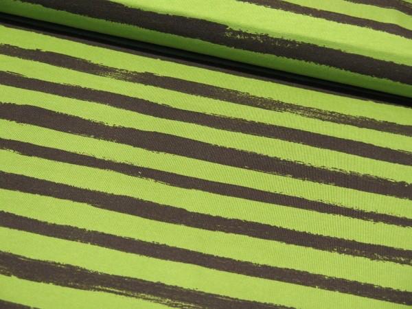 """Sommersweat """"Stripes"""" grün/schwarz"""