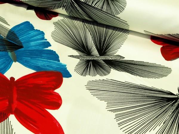 """Baumwoll Satin Designerstof """"Butterfly"""""""