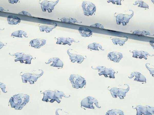 """Baumwolljersey """"Elefanten"""""""