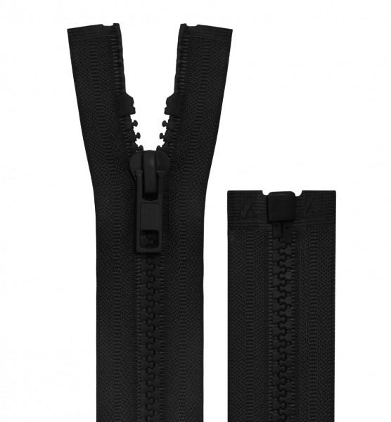 Reissverschluss teilbar - 5mm Dekor - schwarz