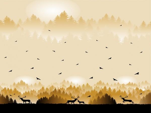 """VORBESTELLUNG!! """"Wild Shadows by lycklig design"""" Hirsch senf"""