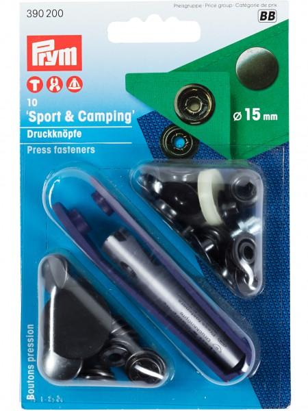 """Prym Sport&Camping Druckknöpfe """" schwarz """" 15mm"""