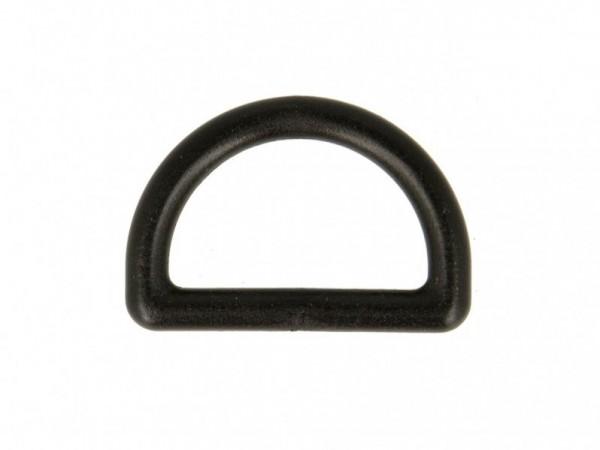 """D-Ring Kunststoff """"schwarz"""" 25mm"""