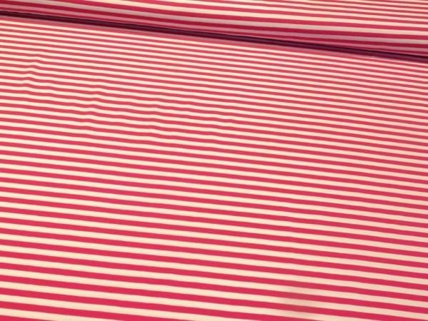 "Baumwolljersey ""Stripes 12mm"" pink-weiss"