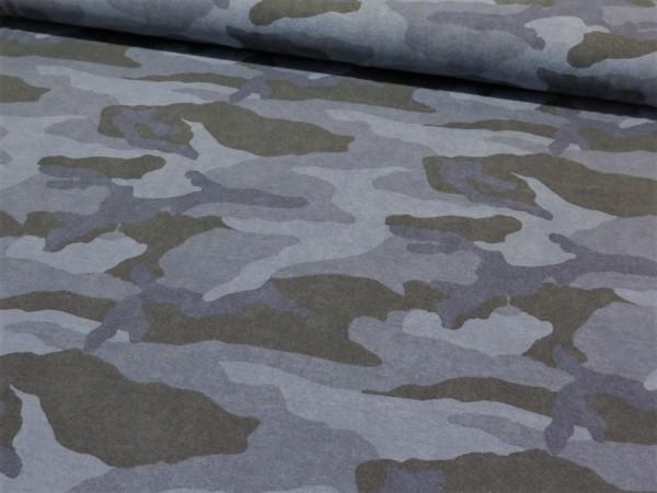 "Kuschelsweat ""camouflage"" blau"