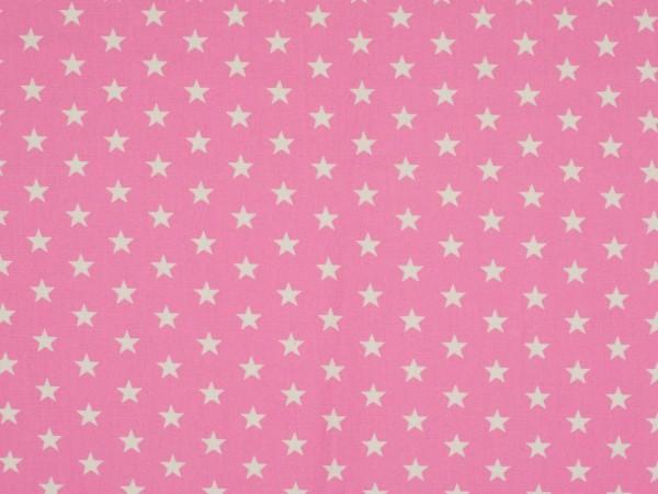 """Baumwolljersey """"Sterne"""" rosa"""