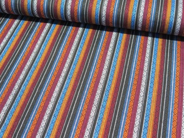 "Ethno Stripes ""weinrot-blau"""