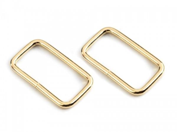 """Vierkantring """" gold """" 25mm"""